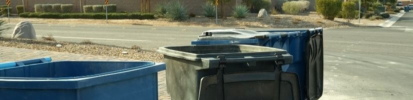 Cover trash cans